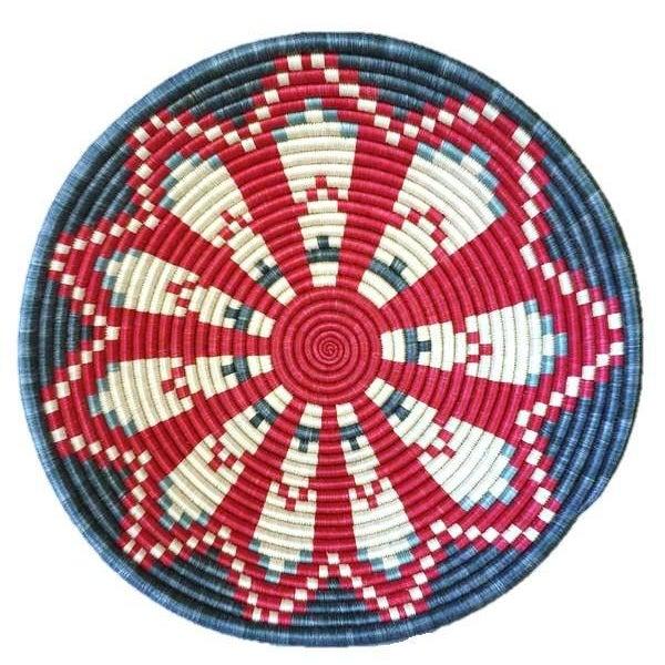 African Basket / Rwanda Baskets/ Woven Basket/ Sweet Grass and Sisal/ Boho| Wall Hanging Basket| Fruit Basket - Image 5 of 5