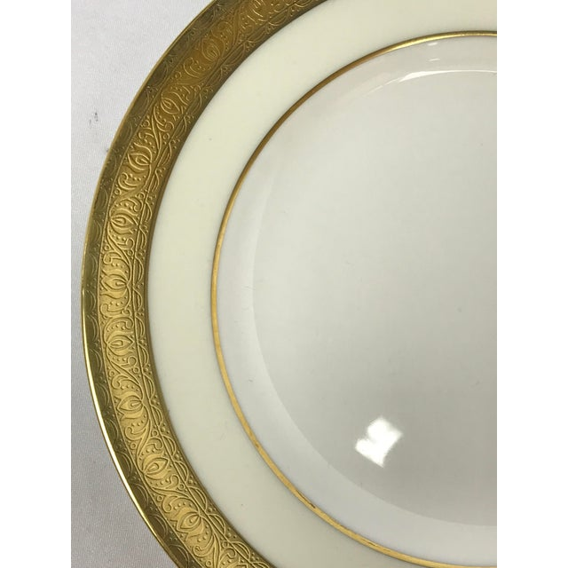 Set of Twenty (20) Minton's Buckingham K-159 pattern bread, side or individual party plates. Gold & Cream decorated with a...