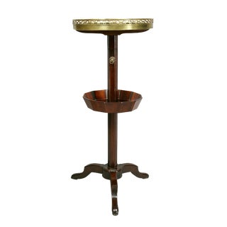 Louis XVI Mahogany and Brass-Mounted Adjustable Candle Stand by Bailly For Sale