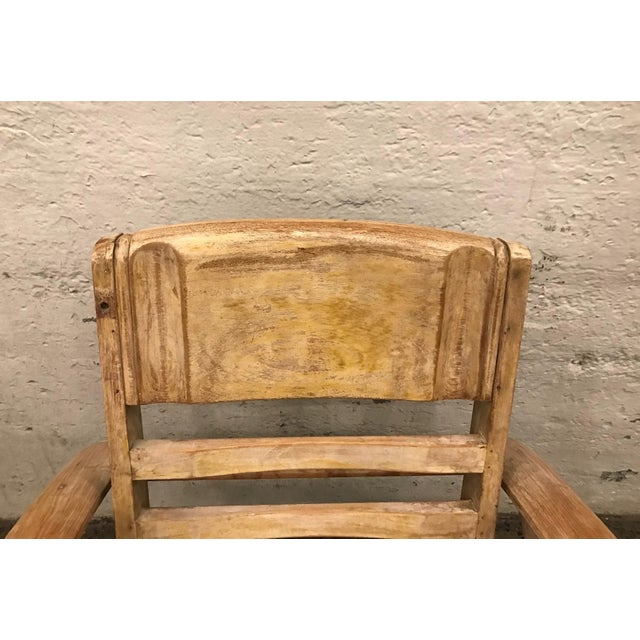 1950s Cerused Lounge Chair Attributed to Rene Gabriel For Sale In New York - Image 6 of 8