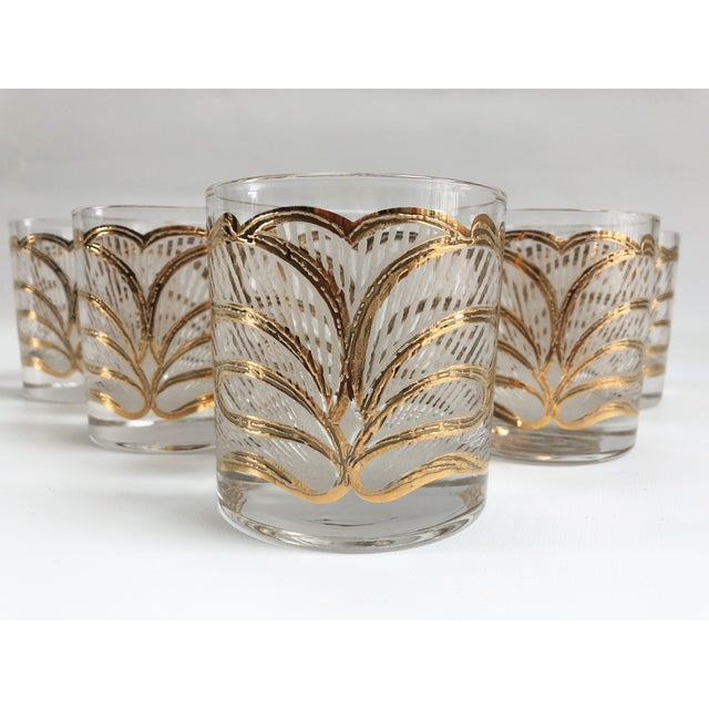 """Set of five gorgeous Hollywood Glam rocks glasses in excellent condition. Marked, """"Georges Briard,"""" on side. Item no:..."""