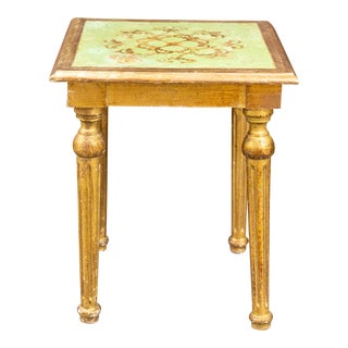Italian Florentine Side Table For Sale