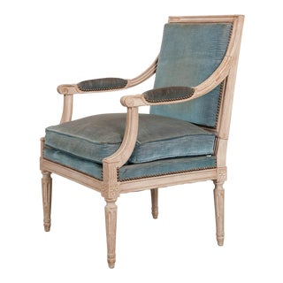 French Early 19th Century XVI-Style Painted Fauteuil For Sale