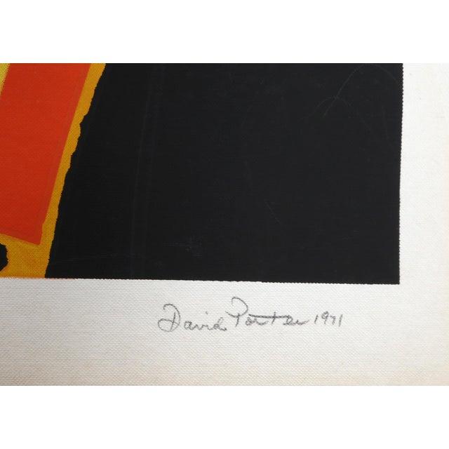 Abstract David Porter, Eye of the Peacock, Abstract Silkscreen For Sale - Image 3 of 4