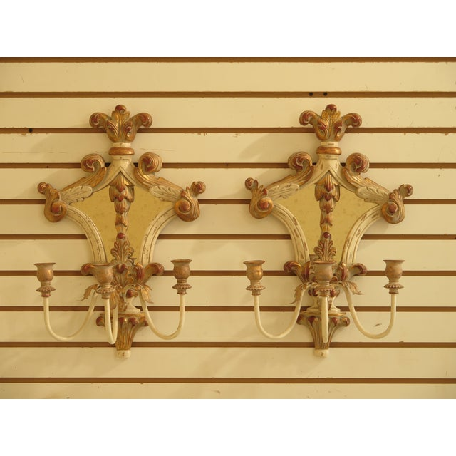 Ethan Allen Venetian Mirrored Wall Sconces - a Pair For Sale - Image 11 of 11