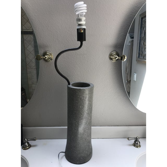 Currey & Company Klay Polished Concrete With Abalone Shells Table Lamp Portable Light For Sale - Image 13 of 13