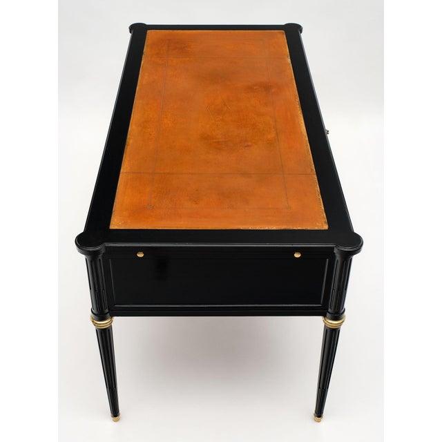 1900 - 1909 Antique French Louis XVI Style Ebonized Desk For Sale - Image 5 of 10