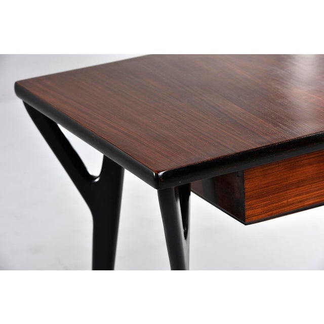 Small Mid Century Italian Desk For Sale - Image 4 of 12
