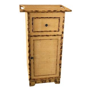 Tortoise Rattan Seagrass Storage Cabinet For Sale