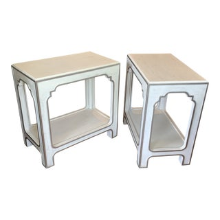 Hollywood Regency Hooker Furniture Modern Romance End Tables - a Pair For Sale