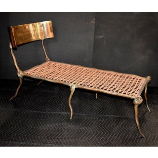 "Sculptural ""Snake"" Design Brass Chaise Longue Preview"