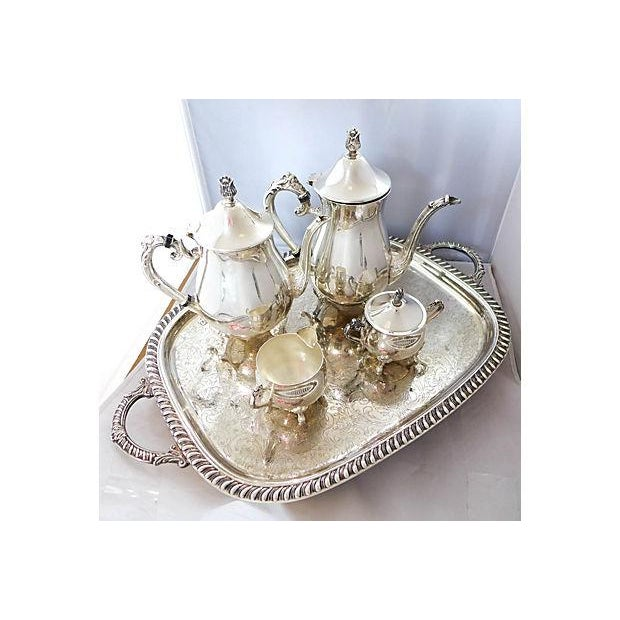 Vintage Five-Piece Silver Plate Tea & Coffee Set - Image 2 of 7