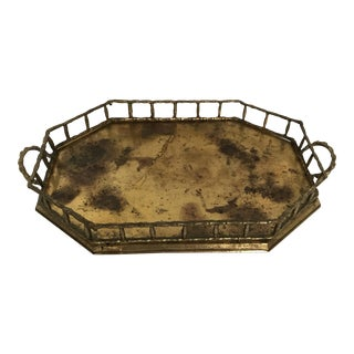 Brass Bamboo Style Octagonal Tray