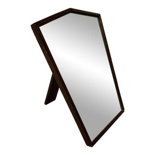 1930s Oak English Art Deco Table Top Mirror For Sale
