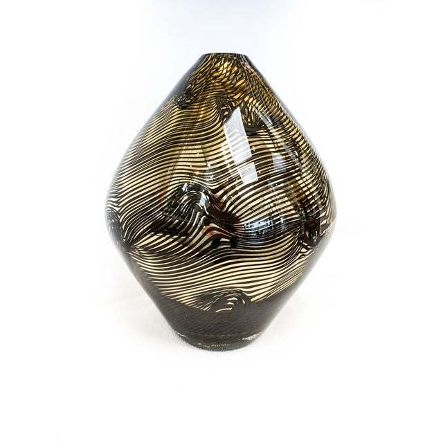 This Marvelous 24k Gold Vase is hand blown and signed by the artist. Usually paired in the collection of 3, this small...
