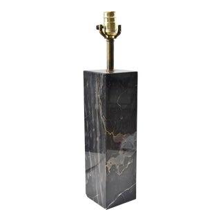 Walter Von Nessen Minimalist Modern Black Marble Table Lamp For Sale