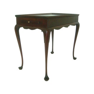 Biggs Pembroke Chippendale Style Mahogany Side or Tea Table With Leaves For Sale