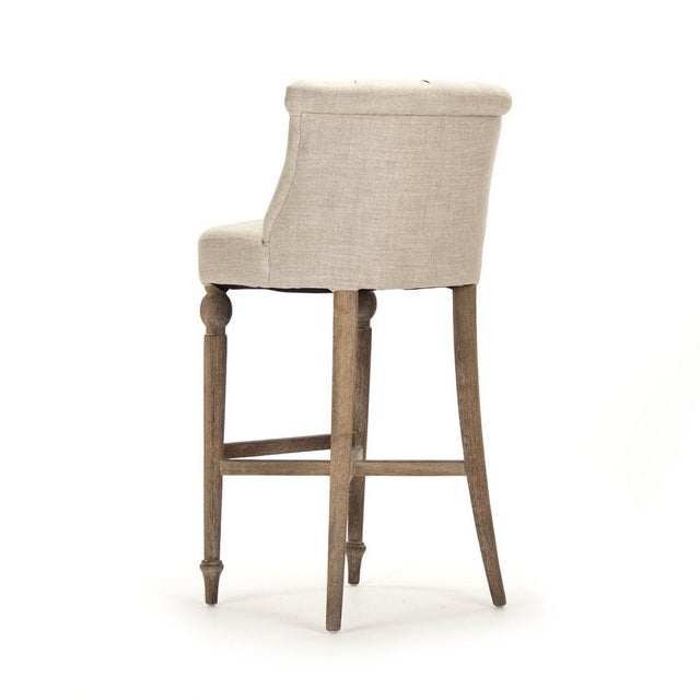 French Country Leaze Bar Stool in Cream For Sale - Image 3 of 5