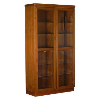 Danish Mid-Century Modern Teak Display Cabinet Bookshelf by Skovby For Sale