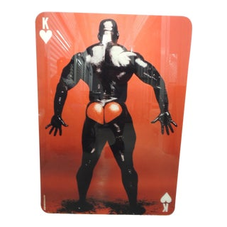 King of Hearts Photo of Standing Muscle Male For Sale