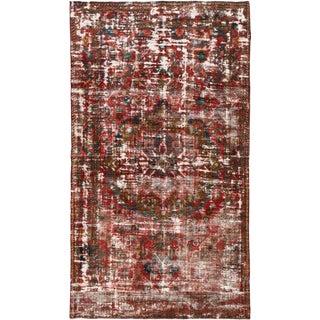 Vintage Distressed Wool Rug For Sale