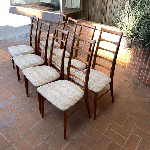 Koefoeds Hornslet Set of 8 ladder-back dining chairs are a wonderful example of Scandinavian design. The elegant beauty of...