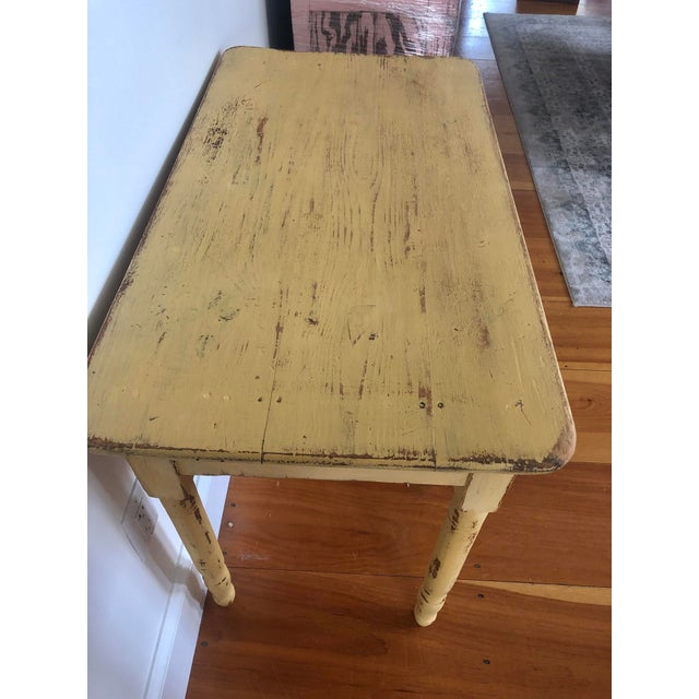 Farmhouse Antique Distresses French Style Farm Table For Sale - Image 3 of 11