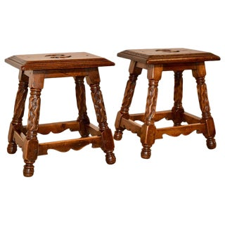 Pair of 19th Century French Stools For Sale