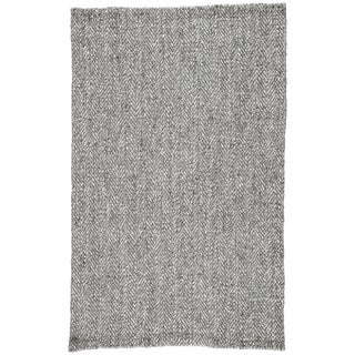 Jaipur Living Haxel Handmade Chevron Black/ Silver Area Rug -5′ × 8′ For Sale