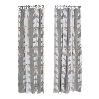 Pair of 1967 Knoll Mid-Century Curtains-Drapes For Sale