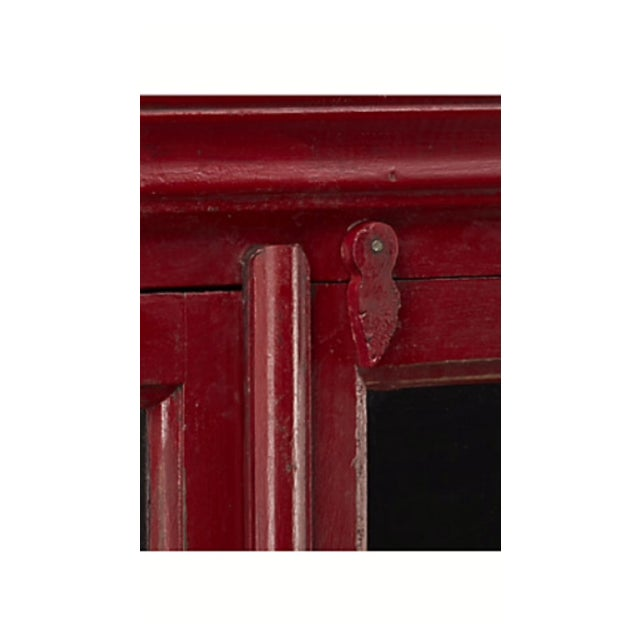 Wooden Red China Cabinet - Image 5 of 5