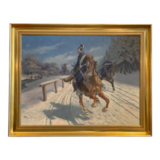 Karl Hansen Reistrup (1863-1929) Danish Dragoons For Sale