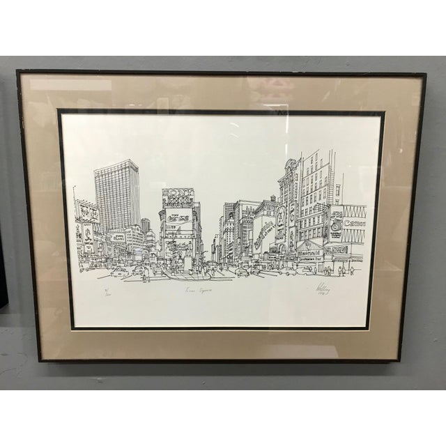 """""""Times Square, NYC 1978"""" Signed and Numbered Line Drawing by Richard Welling For Sale - Image 10 of 10"""