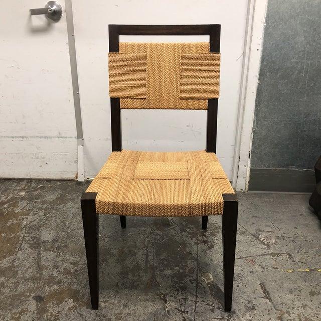 Palecek Raffia Rope & Wood Side Chair - Image 7 of 7
