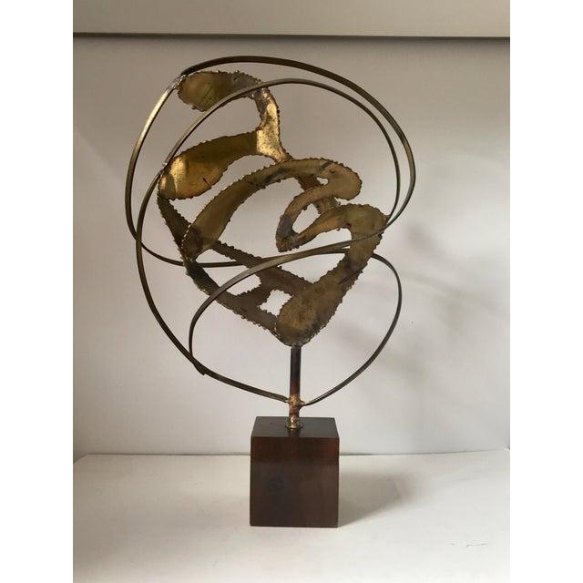 Metal Midcentury Modern Brutalist Sculpture For Sale - Image 7 of 7