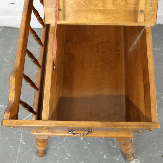 Mid 20th Century Ethan Allen Dough Box Magazine Rack Table For Sale - Image 5 of 11