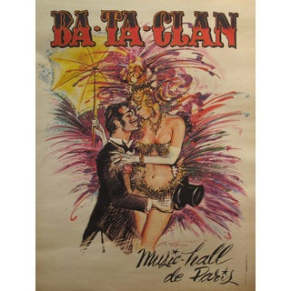 Mid-Century Modern French Music Hall Bataclan Poster For Sale