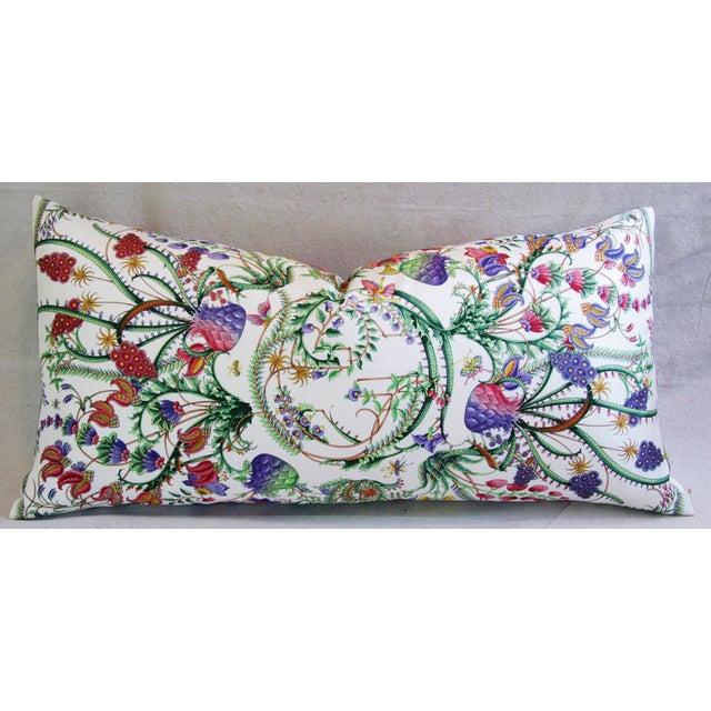 Designer Italian Gucci Floral Fanni Silk Pillow - Image 2 of 11