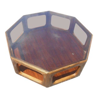 1960s Mid-Century Modern John Keal for Brown Saltman Octagonal Coffee Table For Sale