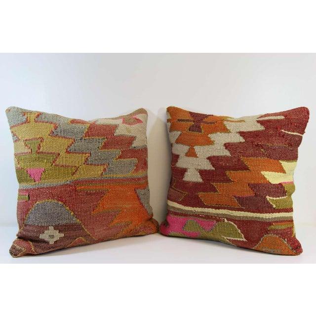Turkish Kilim Pillow - A Pair - Image 2 of 7