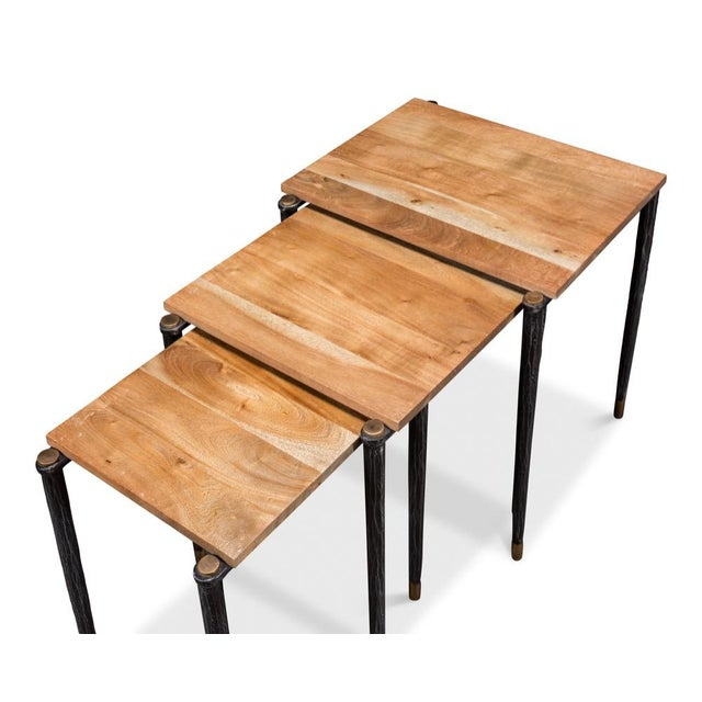 Metal Performance Nesting Tables, Set Of 3 For Sale - Image 7 of 11