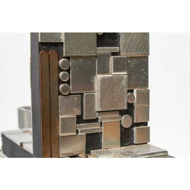 Industrial Metal and Wood Tabletop Abstract Sculpture For Sale In New York - Image 6 of 8