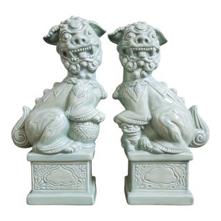 Vintage Foo Dogs, a Pair For Sale