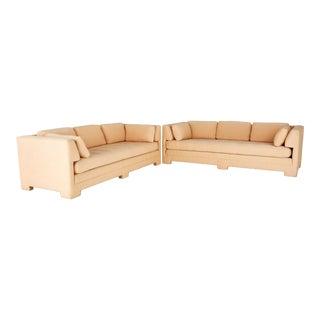 Interior Crafts Mid Century Parsons Sofas - Pair For Sale
