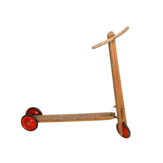 Vintage Wood Scooter For Sale
