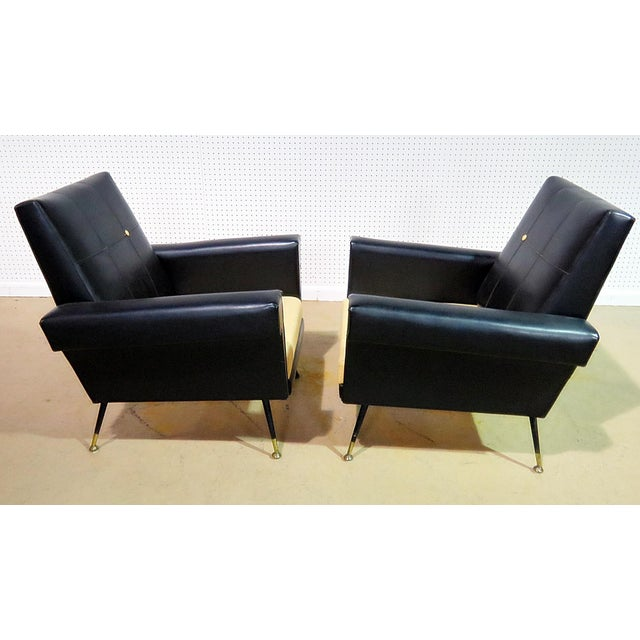 Italian Mid Century Vintage Italian Arm Chairs - a Pair For Sale - Image 3 of 11