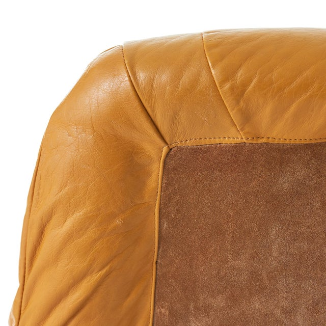 Metal Percival Lafer 'Earth' Chrome & Leather Lounge Chair For Sale - Image 7 of 9