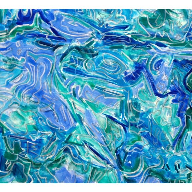 """""""Undercurrent"""" Abstract Oil by Trixie Pitts - Image 3 of 3"""