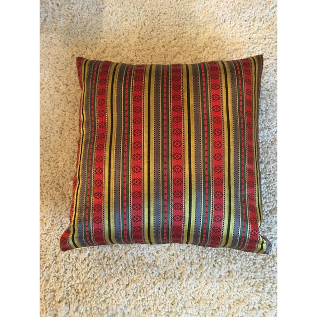 Jewel Tone Silk Pillow from Thailand - Image 2 of 4