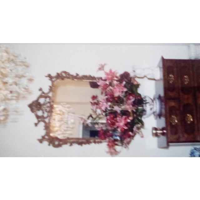 1970s Vintage Milch Carved Giltwood Mirror For Sale - Image 12 of 13